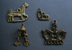 Viking age pendants. From Norbotten, Sweden. Swedish History Museum.