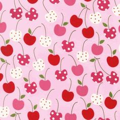 This Pink & Red Novelty Cherries Fabric make adorable kitchen crafts.  Make some curtains with this cheerful cherry pattern fabric and use a solid color for the ruffles.  On Sale for only $8.00 a yard.  http://warmbiscuit.com/pink-red-novelty-cherries-fabric.html