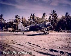 "VMF-214 F4U Piloted by Greg ""Pappy"" Boyington at Torokina Airfield"