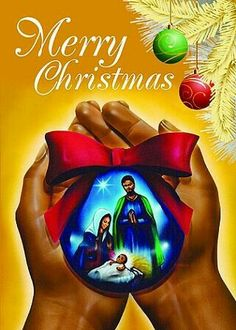 A set of 15 holiday greeting cards highlighting a pair of hands holding a blue Christmas ornament with an image of Joseph & Mary looking over Jesus as an infant Merry Christmas Images, Christmas Jesus, Christmas Blessings, Black Christmas, Christmas Nativity, Christmas Clipart, Christmas Wishes, Christmas Pictures, Christmas Art