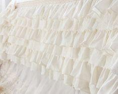 Pink Ruffle Crochet Eyelet Lace Luxury Shabby Chic Cotton
