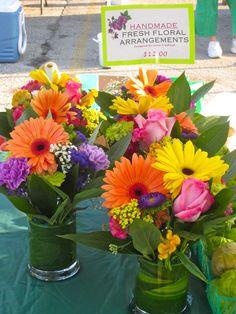 bright floral arrangements | via flowers by anna
