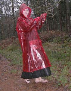 Girls Raincoat, Red Raincoat, Vinyl Raincoat, Plastic Raincoat, Plastic Pants, Nylons, Imper Pvc, Plastic Mac, Rain Suit