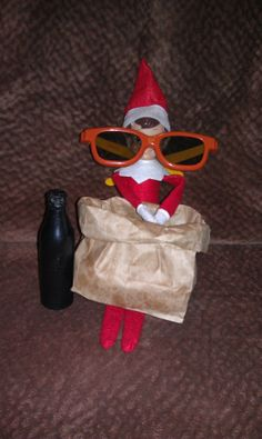 Elf on the Shelf decided on some in-house entertainment..A 3-D movie with popcorn and soda..