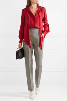 By Malene Birger | Simmy silk-blend pussy-bow blouse | NET-A-PORTER.COM