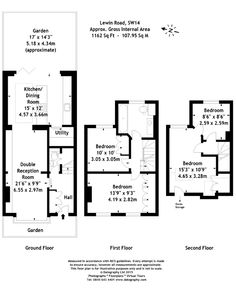 Lewin Road, London 4 bedroom terraced house for sale - 37372811 1930s House Extension, House Extension Plans, Rear Extension, Extension Designs, Extension Ideas, Room London, London House, London Townhouse, 1930s Semi Detached House