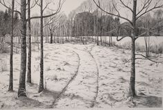 Winter Snow, Drawings, Winter, Outdoor, Art, Landscape, Winter Time, Outdoors, Sketch