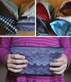 DIY: Sew a simple pouch to hold trinkets, makeup, pencils, or whatever you like. Easy, clear tutorial!
