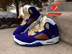 air-jordan-5-crown-royal-custom- Jordans Sneakers 8a4f233e4f