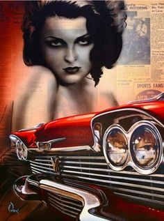 The Dame Wore Red – 1933 Ford Painted by James Owens World Of Color, Color Of Life, Artwork Design, Cool Artwork, Tatoo Styles, Surf Music, Rockabilly Art, Rendering Art, Lowbrow Art