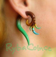 Fake ear tentacle gauge  Faux gauge/Gauge by RybaColnce on Etsy, $18.00