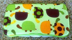 Turtle print baby wipe case