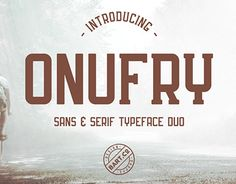 """Check out new work on my @Behance portfolio: """"Onufry Font Duo"""" http://be.net/gallery/51945621/Onufry-Font-Duo"""