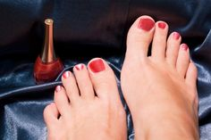 Red toe nails a must! No other color but red!