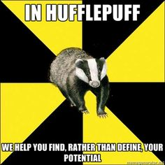 Yes! Yes, exactly!! :D Hufflepuff, Harry Potter