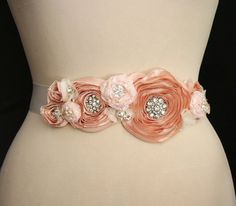 Bridal Sash Wedding Belt Bridal Belt Wedding Sash by FancieStrands
