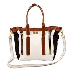 Iris White Black Brown bag featured on Fab.