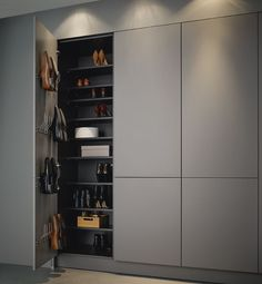 high cupboards for shoes for example in the pantry Graploss with tipon cabinet shoebox is part of Hall wardrobe - Hall Wardrobe, Wardrobe Door Designs, Wardrobe Design Bedroom, Wardrobe Doors, Built In Wardrobe, Closet Designs, Closet Bedroom, Master Bedroom, Shoe Wardrobe