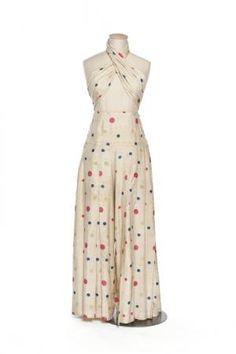 Silk 2-piece beach ensemble, 1930-39