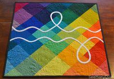 Friday Finish: Rainbow DNA Mini — See Mary Quilt