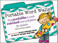 The {4th Grade} Journey: Portable Word Wall FREEBIE
