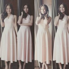 Here is the lovely Kathryn Bernardo smiling and striking a pose during the Sunsilk Sales Rally last January 12, 2016 at the New World Hotel Manila Bay. She looks very pretty and nice on the picture. She was wearing a pink dress and nude high-heeled peep-t