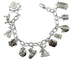 Bedelarmband, ook die heb ik gehad een zilveren armband met allemaal mooie zilveren bedeltjes