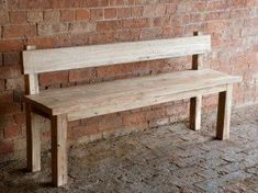 Wood Dining Bench With Back - Foter