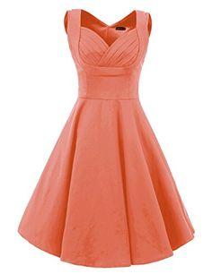 Vianla Women's 1950s V Neck Vintage Cut Out Casual Party Cocktail Dresses pink S Vianla http://www.amazon.com/dp/B0169OFVAY/ref=cm_sw_r_pi_dp_0OLhwb1W3Q09J