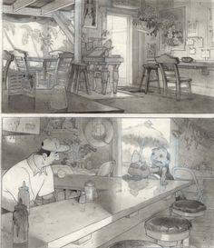 Paul Felix - Lilo and Stich production art Art Disney, Disney Concept Art, Disney Kunst, Art And Illustration, Illustrations, Illustration Pictures, Background Drawing, Animation Background, Art Environnemental