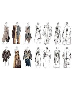 Fashion Sketchbook - fashion illustrations; lineup; fashion portfolio // Robyn Bei Yin Yeang