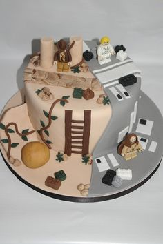 Lego Star Wars/Indiana Jones cake