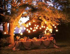mason jars and candlelight- love itt