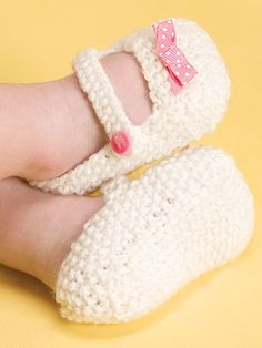 Knitting - Patterns for Children & Babies - Socks, Slippers & Booties Patterns - Mary Janes