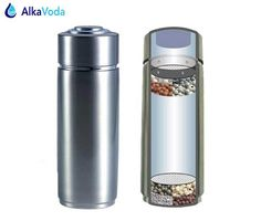 Sold 9945484925 items PH Two Layers 304 Stainless Alkaline Portable Water Ionizer Bottle Nano Energy Flask Water Filter Bottle Dispenser Survival Rifle, Survival Kit, Alkaline Water Ionizer, Filtered Water Bottle, Water Treatment, Flask, Filter Bottle, Mugs, Tableware