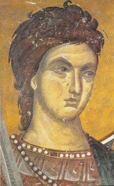 The frescoes of the cathedral Protata in Kars, Athos. Byzantine Icons, Byzantine Art, Tempera, Fresco, Greek Icons, Art Icon, Religious Icons, Orthodox Icons, Medieval Art