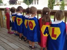 Personalized BIRTHDAYCAPES 4 Kids: Single-Sided with Initial and Emblem. $12.99, via Etsy.