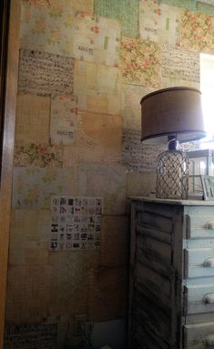 DIY anthropologie inspired wallpaper