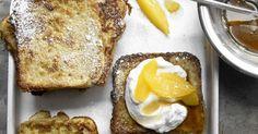 Gebackene Quarktoasts mit Orangenfilets: Schmeckt gut - tut gut! Reichlich Kalzium im Quark stärkt hier Knochen, Zähne und Gelenke.