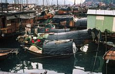 House Boats (Dschunken) in Aberdeen, Hong Kong. Whole families live on this boats until they die. This photo was taken by H.Schweeger in the year 1970. I've been there 1975, not sure if it looks still the same in 2012!?