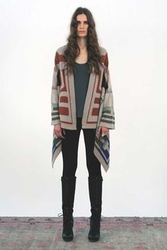 Twelfth Street By Cynthia Vincent Blanket Sweater in Multi. Sale: $349.99