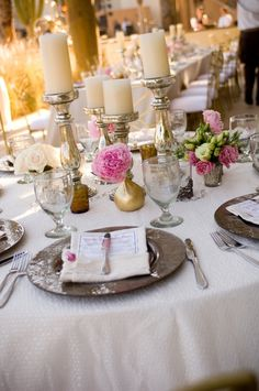 candles and flowers centerpiece add table name ...Romantic Movies