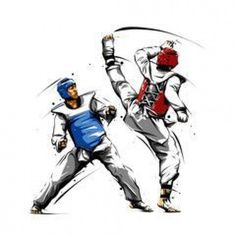 Taekwondo Fight, Art Rules, Hand To Hand Combat, Hapkido, Wall Drawing, Combat Sport, Action Poses, Sports Art, Muay Thai