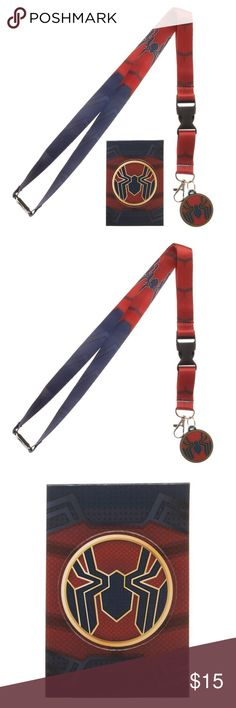 Iron-Spider Avengers Infinity War Lanyard MARVEL Very nice lanyard / ID Badge Holder from Bioworld!  Theme:  Marvel Comics - Officially Licensed Pattern: Avengers Infinity War Iron Spider  Features:   - Detachable Behind Neck - Detachable Clip End (Makes it easy to give your badge or keys to someone!) - Strong Metal Clip - Spider-Man Logo Charm Included! - Clear ID Badge Holder Included! - Includes Collectible Sticker!  Brand:  Bioworld  CONDITION - New  Check my Posh for more Spiderman and…