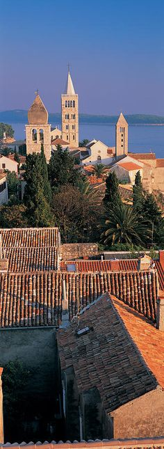 High Angle View Of A Town, Rab Island  Croatia