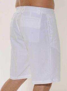 Mens Cotton Gauze Capri - Men's Short 100 % Linen.Adjustable ...