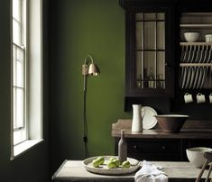 Little Greene wall paint. Dark green brings peace and depth to the kitchen - . Little Greene wall paint. Dark green brings peace and depth to the kitchen – … Little Greene Wandfarbe. Dunkles Grün bringt Ruhe und Tiefe in die Küche – w… 0 Source by Olive Green Paints, Sage Green Paint, Green Paint Colors, Kitchen Paint Colors, Room Colors, Dark Colors, Green Painted Walls, Dark Green Walls, Olive Green Walls