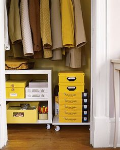 Organize front closet.