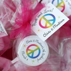 "Why choose one when you can have all. of. the. colors? Make a rainbow connection with these rainbow birthday party favors. Cute lip balms with your personal details help your birthday kid share with her favorite people. Click to see how we can help make your favors perfect. One recent customer said, ""I received the favors for my daughter's birthday and absolutely LOVE them! They are perfect!"" #rainbowparty, #kidsbirthday, #birthdayparty, #partyfavors"