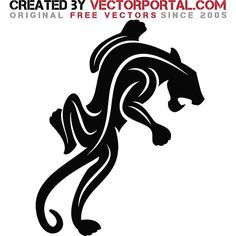 Jaguar Sitting Silhouette jaguar silhouette vector graphics. animal ...